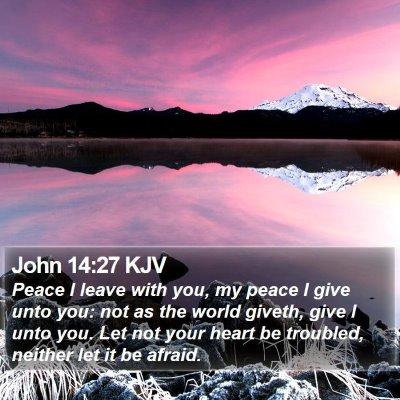 John 14:27 KJV Bible Verse Image