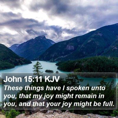 John 15:11 KJV Bible Verse Image