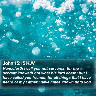 John 15:15 KJV Bible Verse Image