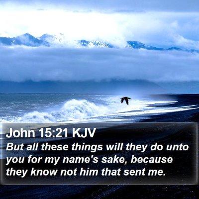 John 15:21 KJV Bible Verse Image