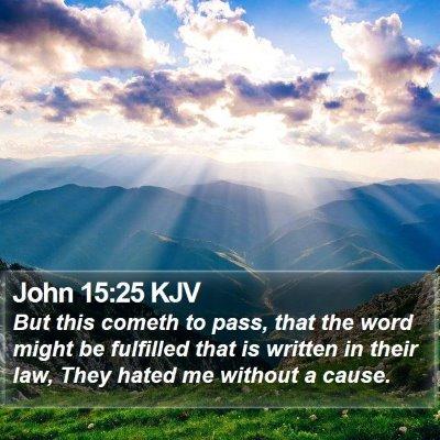 John 15:25 KJV Bible Verse Image