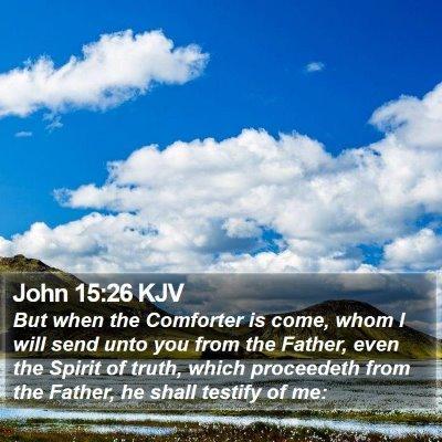 John 15:26 KJV Bible Verse Image