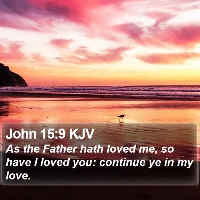 John 15:9 KJV Bible Verse Image