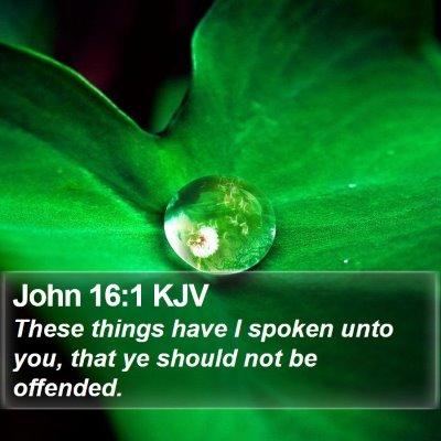 John 16:1 KJV Bible Verse Image