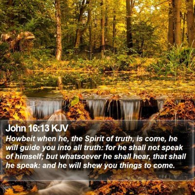 John 16:13 KJV Bible Verse Image