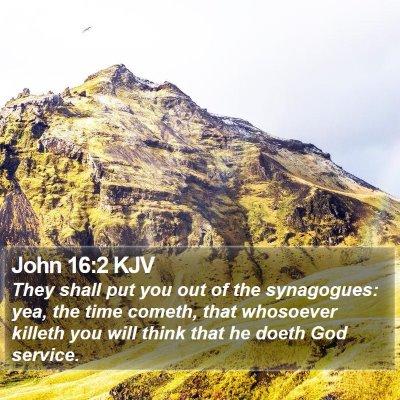 John 16:2 KJV Bible Verse Image