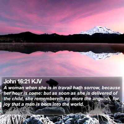 John 16:21 KJV Bible Verse Image