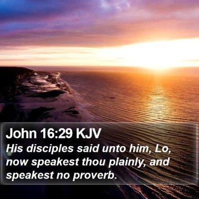 John 16:29 KJV Bible Verse Image