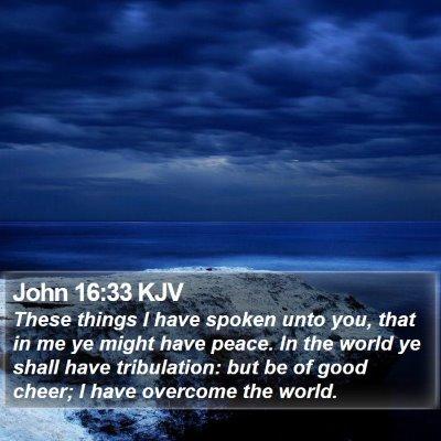 John 16:33 KJV Bible Verse Image