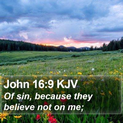 John 16:9 KJV Bible Verse Image