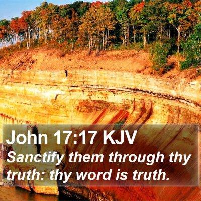 John 17:17 KJV Bible Verse Image