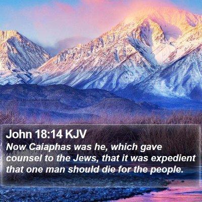 John 18:14 KJV Bible Verse Image