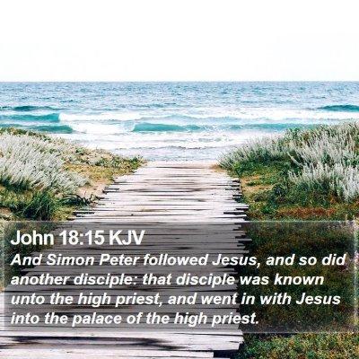 John 18:15 KJV Bible Verse Image