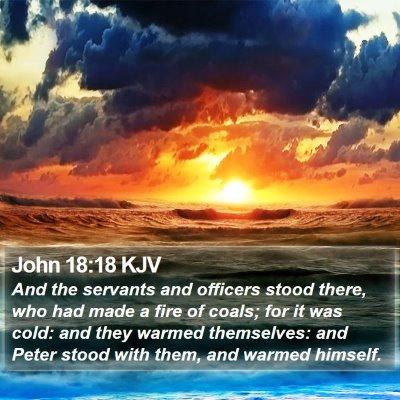 John 18:18 KJV Bible Verse Image