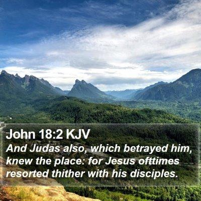 John 18:2 KJV Bible Verse Image