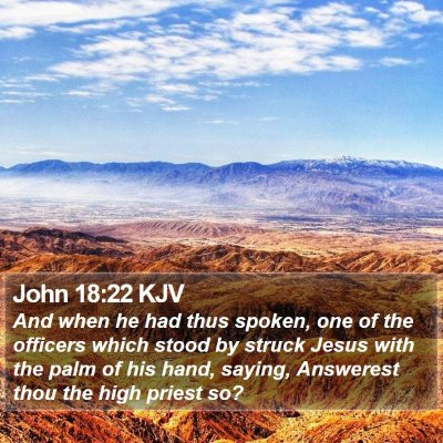 John 18:22 KJV Bible Verse Image