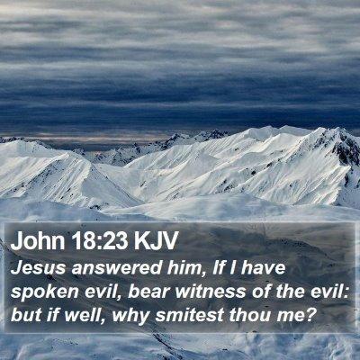 John 18:23 KJV Bible Verse Image
