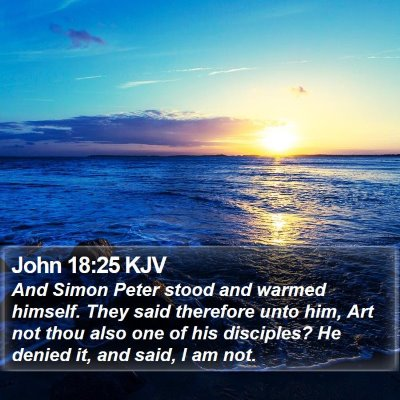 John 18:25 KJV Bible Verse Image