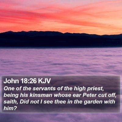 John 18:26 KJV Bible Verse Image
