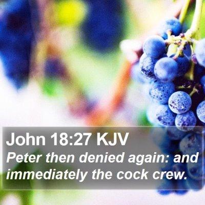 John 18:27 KJV Bible Verse Image