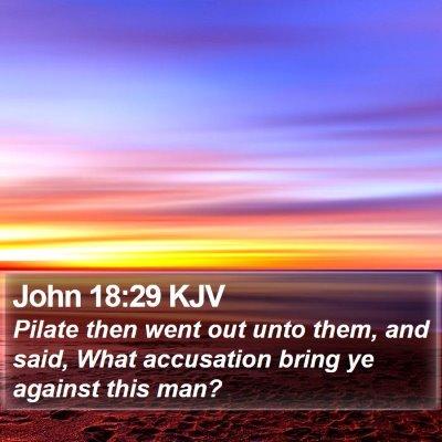 John 18:29 KJV Bible Verse Image