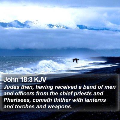 John 18:3 KJV Bible Verse Image