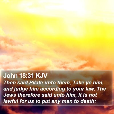 John 18:31 KJV Bible Verse Image