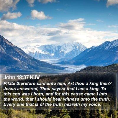 John 18:37 KJV Bible Verse Image