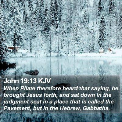 John 19:13 KJV Bible Verse Image