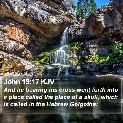 John 19:17 KJV Bible Verse Image