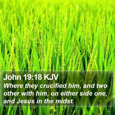 John 19:18 KJV Bible Verse Image