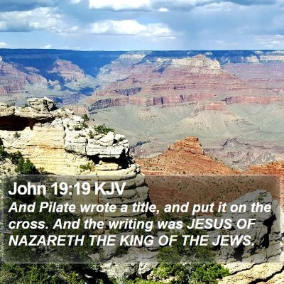 John 19:19 KJV Bible Verse Image