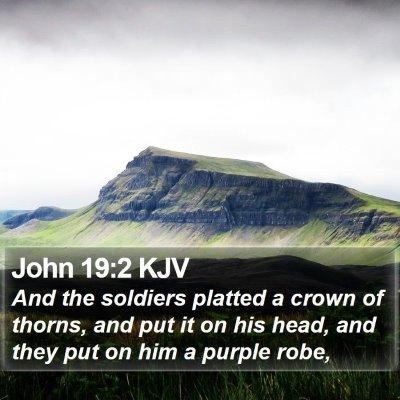 John 19:2 KJV Bible Verse Image