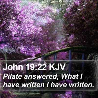 John 19:22 KJV Bible Verse Image