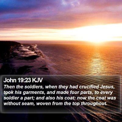 John 19:23 KJV Bible Verse Image