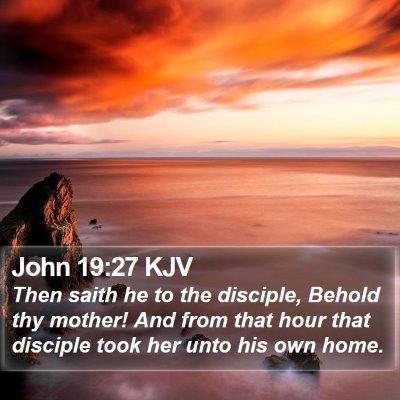 John 19:27 KJV Bible Verse Image