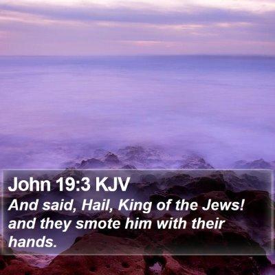 John 19:3 KJV Bible Verse Image