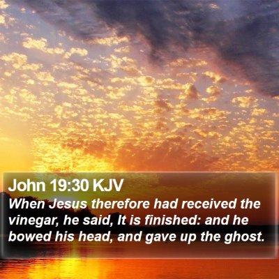 John 19:30 KJV Bible Verse Image
