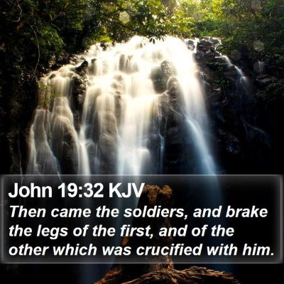 John 19:32 KJV Bible Verse Image