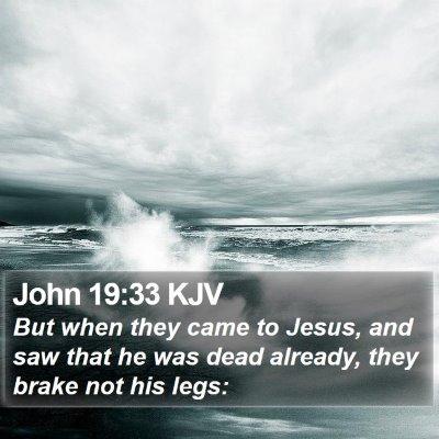 John 19:33 KJV Bible Verse Image