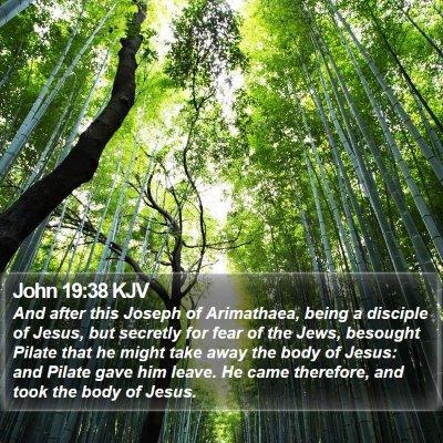 John 19:38 KJV Bible Verse Image