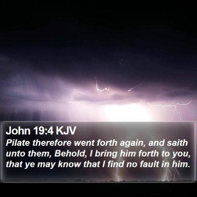 John 19:4 KJV Bible Verse Image