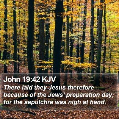 John 19:42 KJV Bible Verse Image