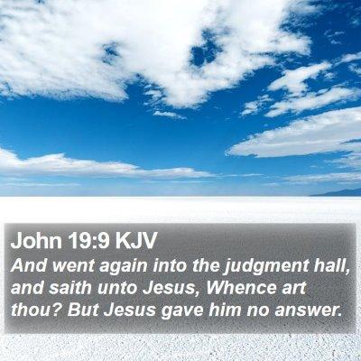 John 19:9 KJV Bible Verse Image