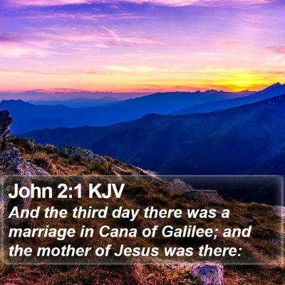 John 2:1 KJV Bible Verse Image