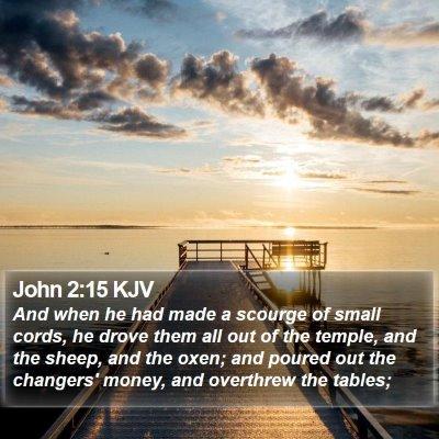 John 2:15 KJV Bible Verse Image