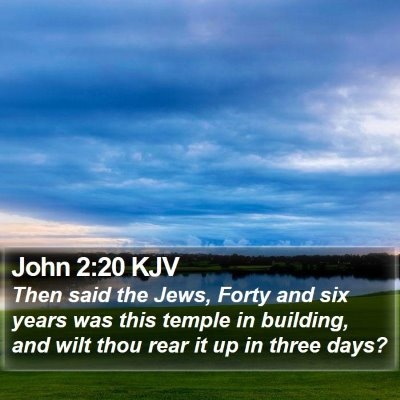 John 2:20 KJV Bible Verse Image