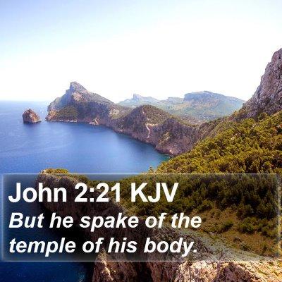 John 2:21 KJV Bible Verse Image
