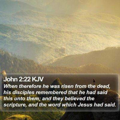 John 2:22 KJV Bible Verse Image