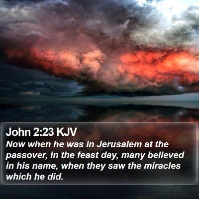 John 2:23 KJV Bible Verse Image